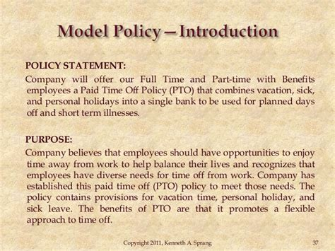 paid time policy template paid time