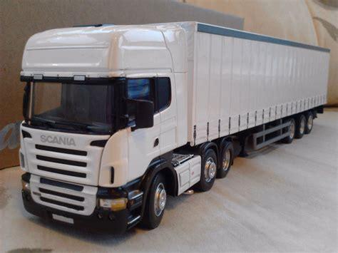 Diecast Truck scania r620 plain white curtainside truck diecast model