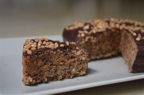 fructosefreier kuchen nusskuchen mit schoko leckeres in vegan
