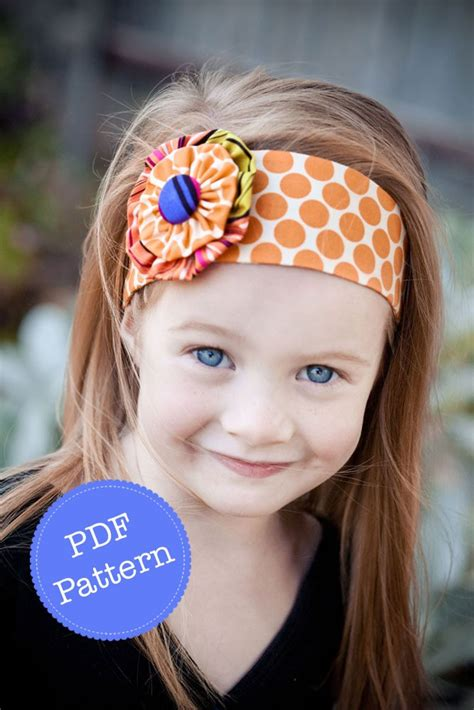 pattern for headbands headband pattern pdf sewing pattern for funky flower