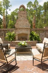 brick outdoor fireplace classic cape cod home home bunch interior design ideas