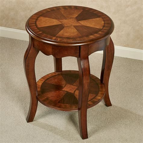 round accent tables wood rhylen round wooden accent table