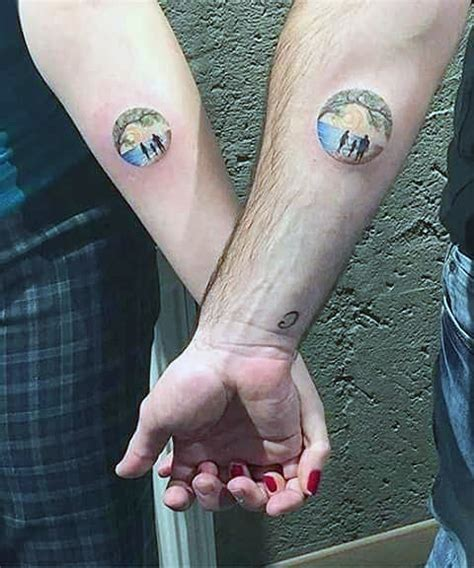 tiny couple tattoos top 100 best matching tattoos connected design ideas