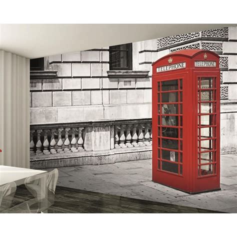 black and white london wallpaper for walls 1 wall london red phone box giant wallpaper mural w8p