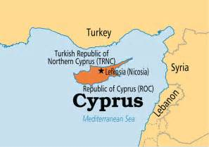 Cyprus World Map by Cyprus Operation World