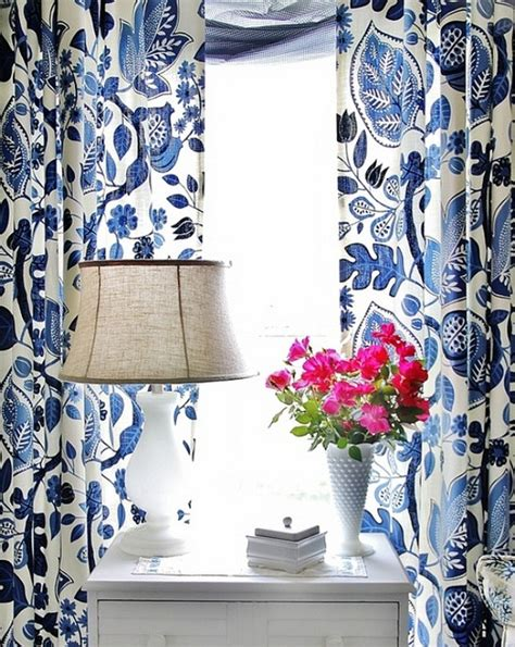White Floral Curtains Blue And White Floral Curtains Best Curtains Design 2016