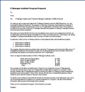it manager institute class request proposal itlever