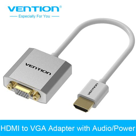 Hv9248 Hdmi To Vga Adapter With Audio Port Kode Bis9302 1 vention metal hdmi to vga adapter converter cable1080p with audio micro usb port power