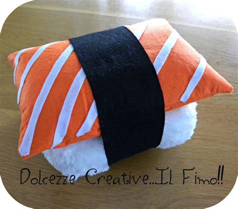 cuscini sushi cuscino sushi nigiri salmone riso idea regalo sushi lover