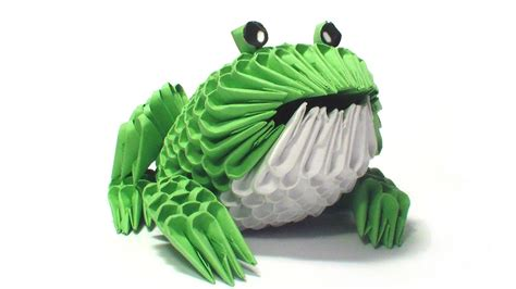 How To Make A 3d Frog Out Of Paper - 3d origami frog tutorial
