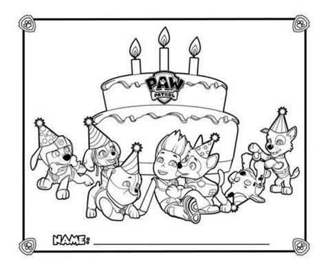 paw patrol nickelodeon coloring pages happy birthday from paw patrol coloring page printable