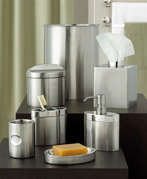 hotel collection quot executive stainless quot bath accessories