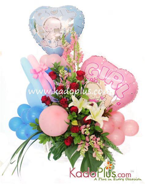 Balon New Baby Keranjang rangkaian balon bunga bayi balloons more 7 kadoplus