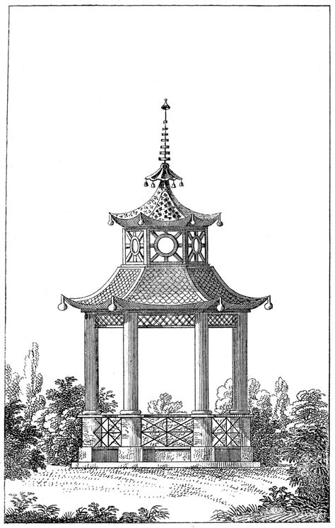 in the garden coloring book books antique garden graphic beautiful pagoda gazebo the
