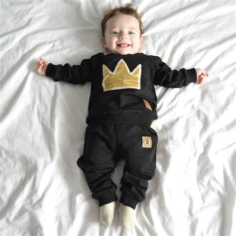 2017 baby boy sleeved clothing top 2 pcs sport suit children s clothes set newborn
