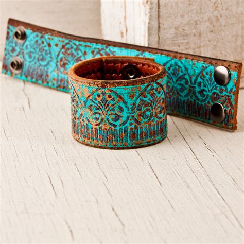 leather cuffs for jewelry turquoise bracelets leather jewelry cuffs wristbands