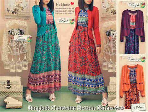 Kain Katun Jepang Ori 110 busana batik bunga bangkok rmc 134 baju batik modern