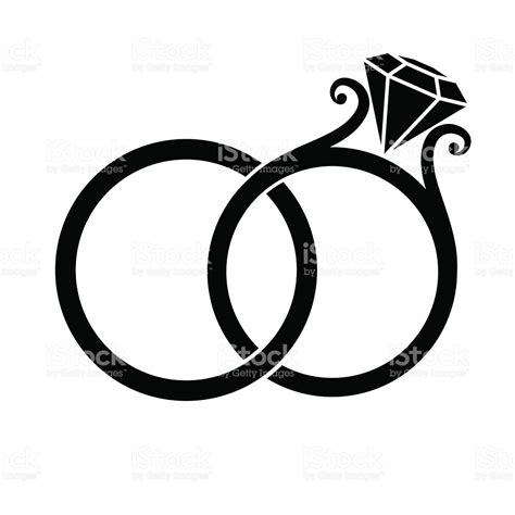 Wedding Rings Vector Free by Wedding Rings Silhouette Stock Vector More Images Of