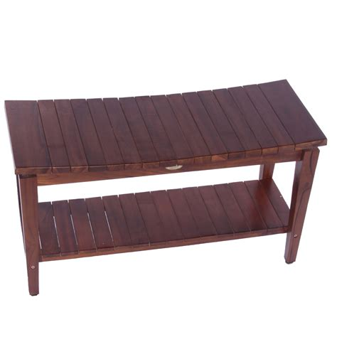 dark teak shower bench rectangle dark brown varnished teak shower bench with