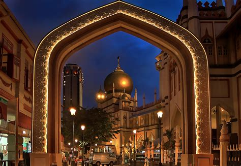 masjid sultan mosque  singapore thousand wonders