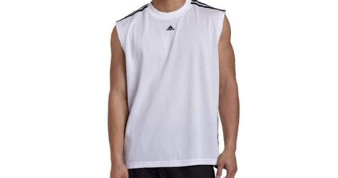 adidas s 3 stripes sleeveless tank top white black x large kangroes toko demo 2