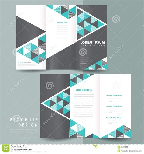 Tri Fold Brochure Templates Modern Template Design Triangle Mosaic Element Blue 56335613 Brochure Layout Template