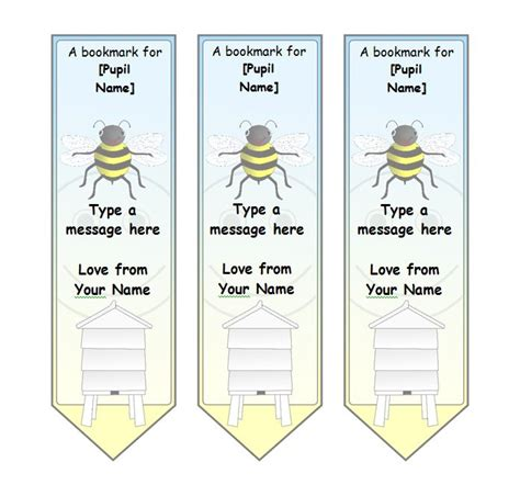 Free Templates For Bookmarks by 40 Free Printable Bookmark Templates Template Lab