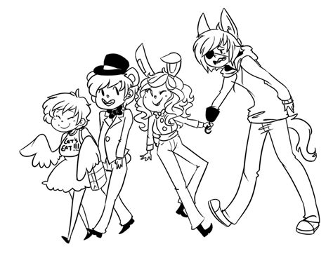fnaf chibi coloring pages mangol fnaf colouring pages