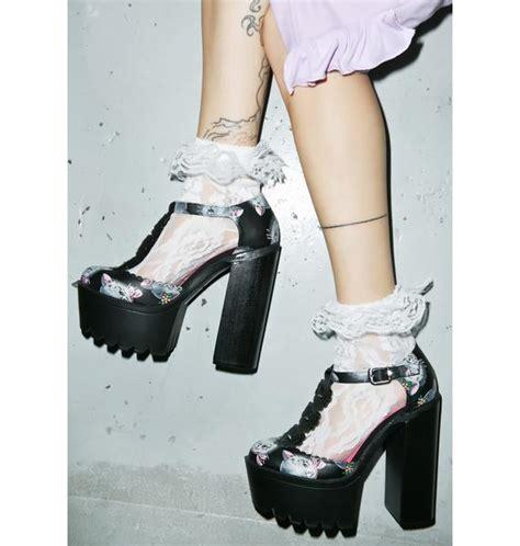 iron cat platform heels dolls kill