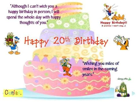 Happy 20th Birthday Wishes Quotes 20th Birthday Quotes Sayings 20th Birthday Picture Quotes