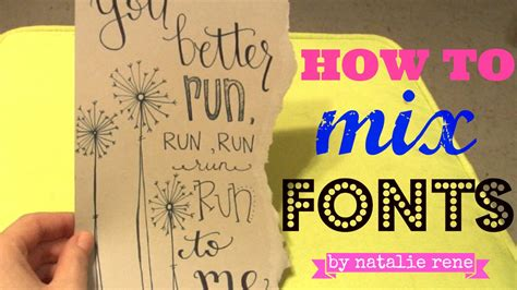 hand lettering tutorial youtube hand lettering tutorial how to mix fonts youtube