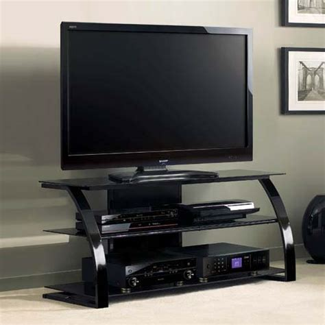 55 inch tv cabinet bello high gloss black 55 inch tv stand with black glass