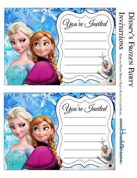 printable free frozen invitations frozen party free printable invitations is it for