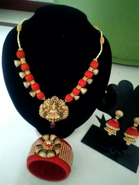 Indian Handmade Jewellery - 872 best silk thread wrapped images on