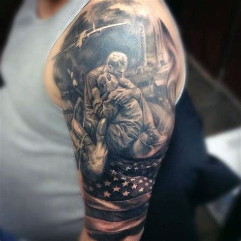 army sleeve tattoo 90 army tattoos for manly armed forces design ideas