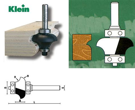 Lowen Mesin Trimmer Router Profil 14 6 Mm Limited radius bits with bearing