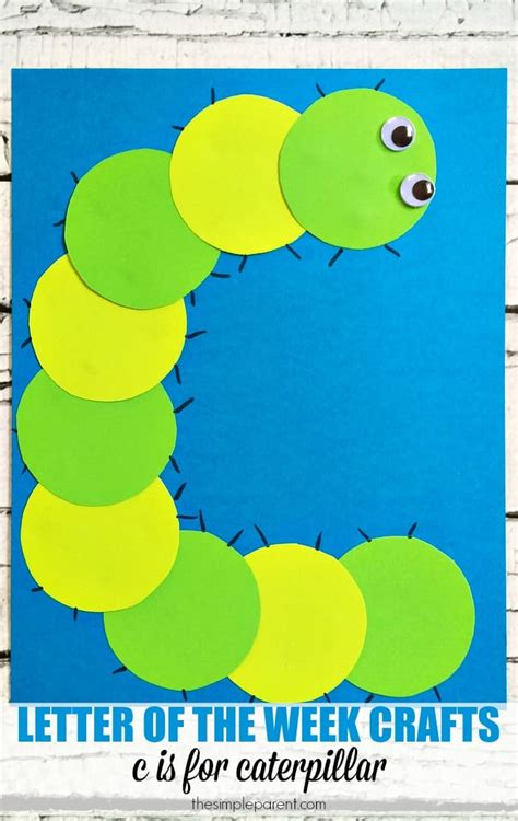 My Find Of The Week by Letter Of The Week Activities C Is For Caterpillar Craft
