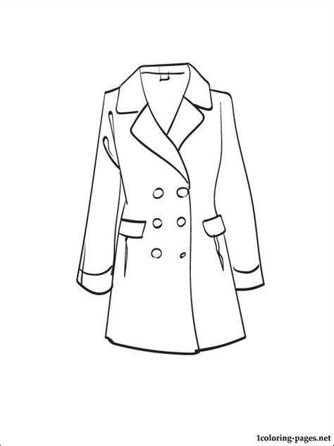 printable coloring page of a jacket free coloring pages of coat