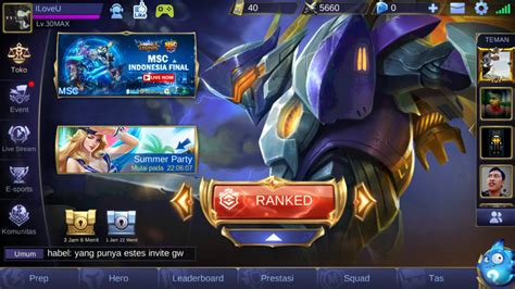mobile legend ranked cara gb mobile legend di ranked mode