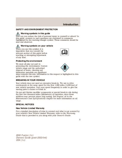 online service manuals 2008 ford fusion instrument cluster 2008 ford fusion owners manual