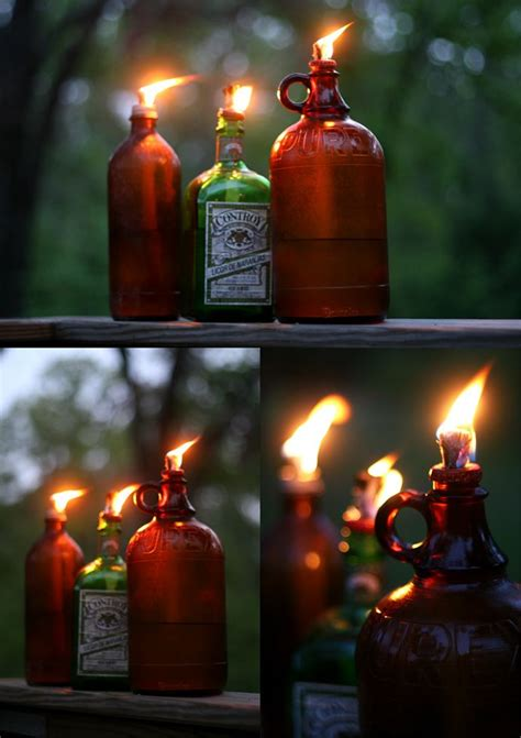 backyard torches lanterns 17 best images about wine bottle painting jars ideas on