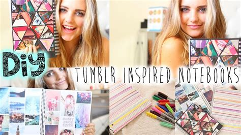 tumblr rooms diy book covers diy tumblr inspired notebooks for school aspyn ovard