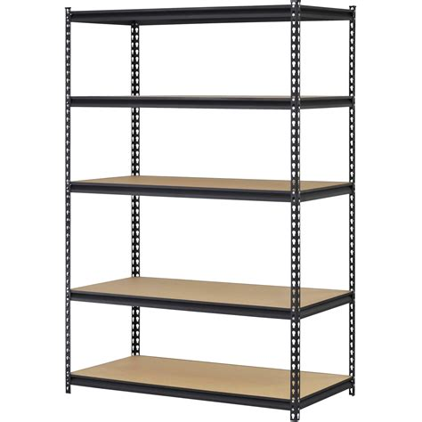 steel metal storage rack organizer black 5 adjustable
