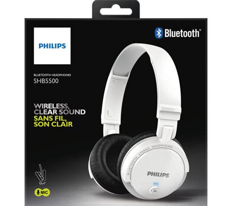 Philips Shm7410u Pc Headset Gaming Chat Entertainment buy philips shb5500wt wireless bluetooth headphones white free delivery currys