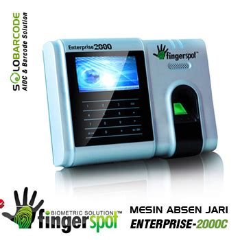 Mesin Absen Barcode absen sidik jari enterprise 2000c