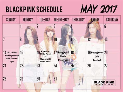 blackpink schedule blackpink s official schedule for may blink 블링크 amino