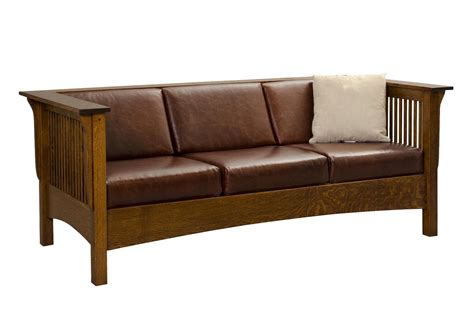 mission style couch moon river mission sofa from dutchcrafters amish furniture
