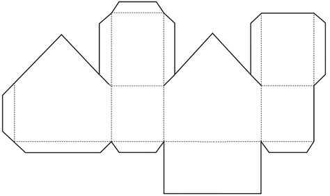 printable paper house template paper house template pictures to pin on pinsdaddy