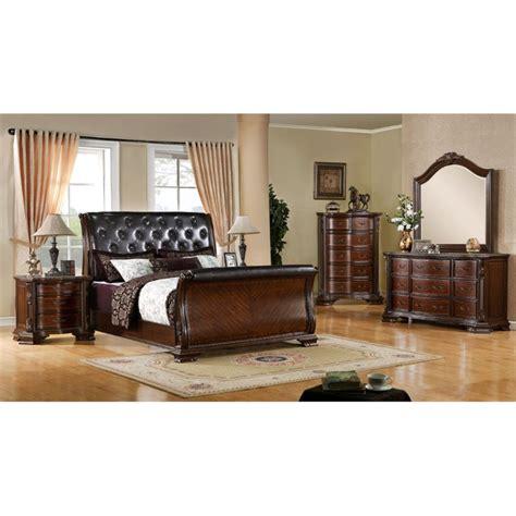 king sleigh bedroom set furniture of america hulga 3 piece king sleigh bedroom set