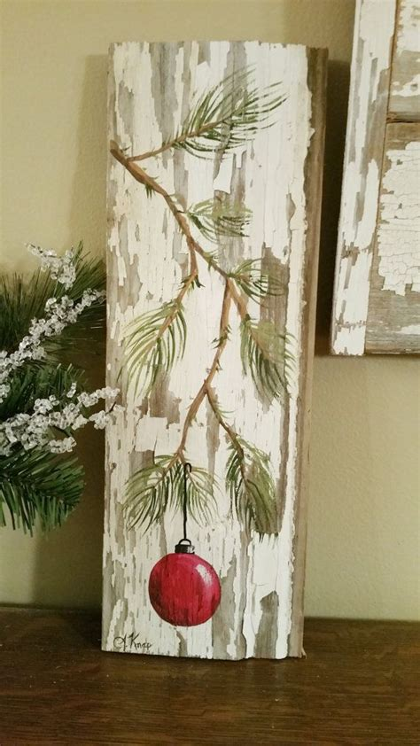 tree painted on wood ideas painted decoration gifts by thewhitebirchstudio christmasy